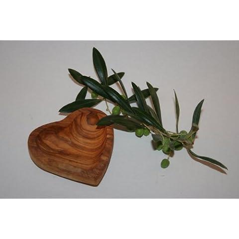 Porta anelli a forma di cuore, PM, in legno d