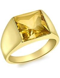Carissima Gold - Bague Femme - Or jaune (9 cts) 4 Gr - Citrine - T 52