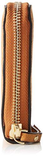 PIECES - Pcsia Suede Purse, Borsette da polso Donna Marrone (Cognac)