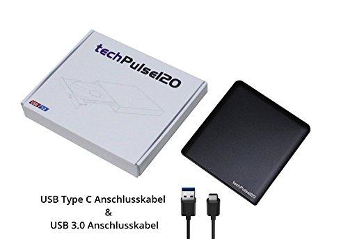techPulse USB 3 0 3D BDXL externe Blu-ray M-Disc Graveur Lecteur en