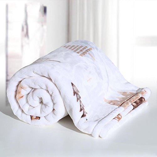 Rollsnownow Weiß Wald Muster Babydecke Quilt Polyester Material Winter Kindergarten für Baby Design (100 * 150 cm)