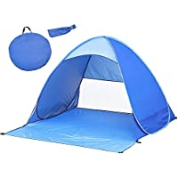 MOGZZi Pop Up Tent, Automatic Beach Tent Outdoor Sun Shelter Portable Cabana UV Protection Baby Tent for Family Garden/Camping/Fishing/Beach Times (for 2-3 Person)