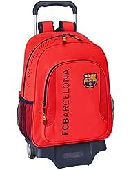 Barça - Mochila grande con ruedas, color naranja (Safta 611462313)