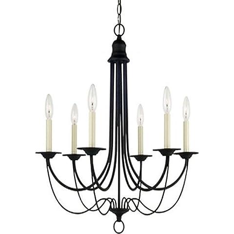 Goud lampadario illuminazione Classic 6-Light Candelabro Blacksmith,
