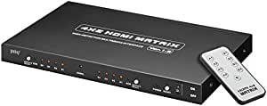 Wentronic AVS 45 HDMI Matrix 4 In / 2 Out Switch Box Including Remote Control and Power Supply by Wentronic
