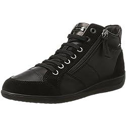 Geox D Myria C, Zapatillas Altas Para Mujer, Negro (Black), 38 EU