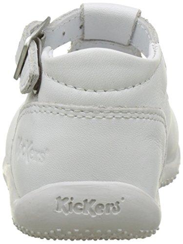 Kickers Bonbek, Sandales Bébé Fille Blanc (Blanc)