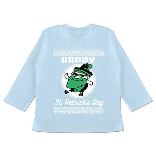 Anlässe Baby - Happy St. Patrick's Day Pixel - 18-24 Monate - Babyblau - BZ11 - Baby T-Shirt ()