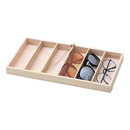 azurely Brille Aufbewahrungsbox, Sonnenbrille Vitrine 6 Brille Box Öffnen Holzkiste 14.76 7.09 1.18in