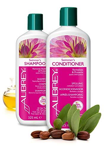 ZWEI FÜR EINS - AUBREY Swimmer's ZWEI FÜR EINS Shampoo & Conditioner Spülung Set 100% natürlich ohne Silikone strapaziertes Haar