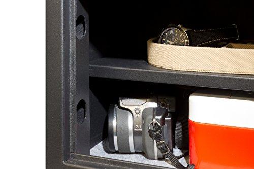 Arregui 30010 Caja fuerte de empotrar electrónica con llave. 380x280x250mm, Negro texturado,...