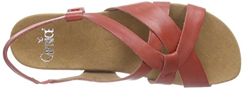 Caprice 28605, Sandales Bride arrière femme Rouge - Rot (RED 500)