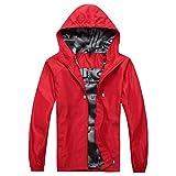 "DRAULIC Heavy Hooded Coat T-shirt chaud et humoristique avec inscription en allemand""Windbreak"""