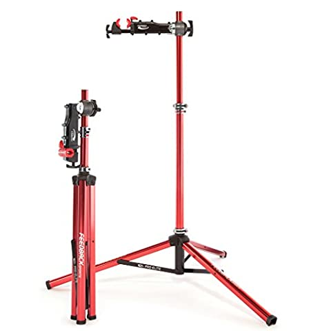 Feedback Sports Pro Elite 16020 Folding Bike Repair Stand Red with Tote Bag