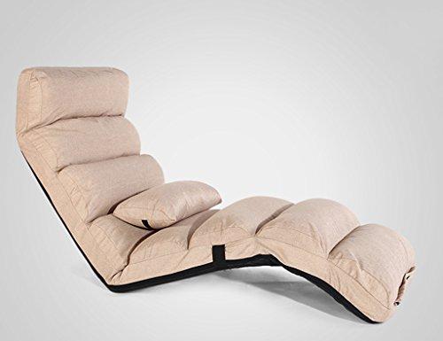 Chaise longue de chaise longue de dossier de lit pliable de chaise de balcon de chaise longue 175 * 54cm (Couleur : Kaki)