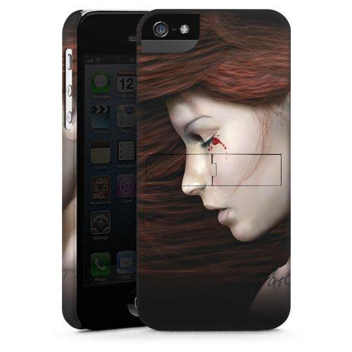 Apple iPhone 5 Housse Étui Silicone Coque Protection Femme Femme Sang CasStandup blanc