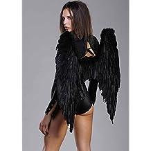 Alas de ángel gótico grandes plumas negro