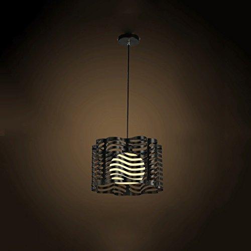 Wave Flüssigkeit (tangmengyun LED Kronleuchter industriellen Stil Eisen verschiedenen Vielzahl Stil Balkon Restaurant Licht Zimmer Licht Büro Kaffee einfach moderne hochwertige Qualität (E27) Black-Waves)