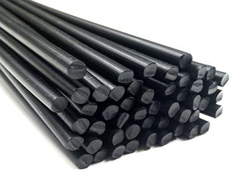 Plastique baguettes de soudure PP Noir 4mm Ronde 25 Barres