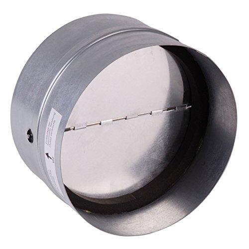 Bielmeier V653348 Rückstauklappe, rund d: 150 mm weiß, verzinkt, passend für System150 rund - Verzinkt Vent