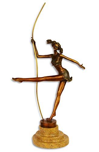 Statue danseur de bronze sculpture figurine - 37,5cm