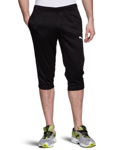 Puma Herren Hose Training 3/4 Pants, Black, S, 653109 03 (Puma Shorts Piping)