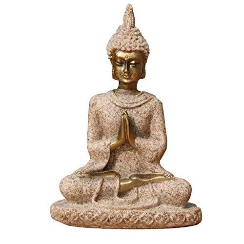 Meditation Buddha-statue (Buddha Statue, Büro Miniatur Home Dekoration Umweltfreundlich Natur Sandstein Handgefertigt Mini Exquisit Figur Skulptur Aufbewahrung Meditation Handwerk - Wie Bild Show, Free Size)
