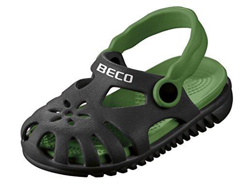 Beco Unisex-Kinder Kindersandalen-90026 Slingback Sandalen, Schwarz (Schwarz 0), 24 EU