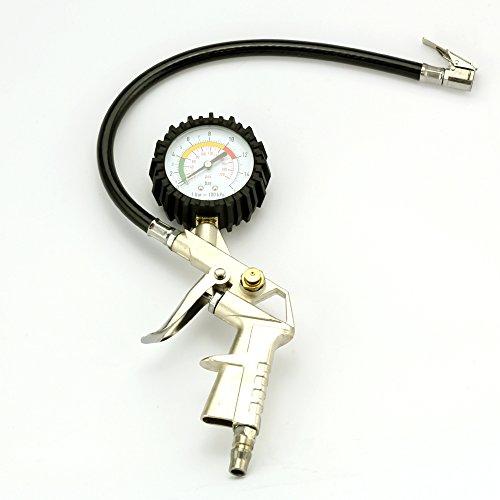 Bars, Ziehen Motorrad Sie (Reifendruckprüfer Messgerät Manometer Mit Pistol Grip 12V Air Compressor 300 psi Auto Reifen Pumpe Kompressor)