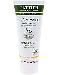 Cattier Crème mains Argile blanche Bio 75ml