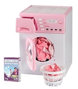 Casdon 621 - Lavadora electrónica de Juguete, Color Rosa