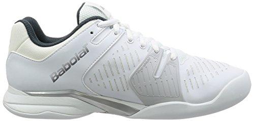 Babolat Propulse Team Indoor, Sneakers basses homme Blanc, gris, jaune
