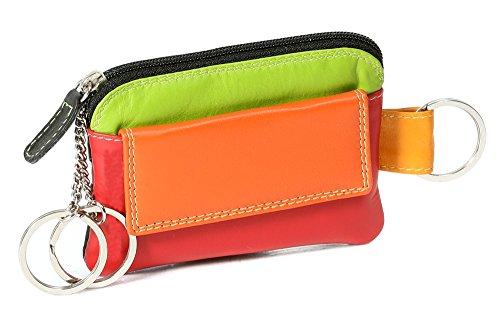 LEAS Damen und Herren mehrfarbige Schlüsseltasche mit Kleingeldfach Echt-Leder, bunt Multicolore-Serie - Echte Serie