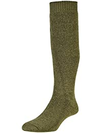 Sub Zero Wool Blend Cushioned Thermal Warm Insulated Winter Mountain Walking Boot Socks Long Dark Green 1 Pair