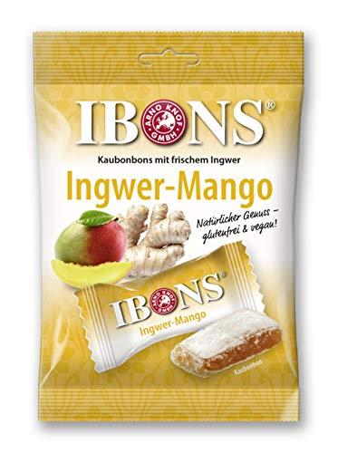 IBONS Kaubonbons 92 g (Ingwer-Mango)