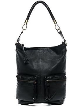 BACCINI® Beuteltasche SOFIA - Damen Schultertasche groß Ledertasche - Hobo Bag Damentasche echt Leder