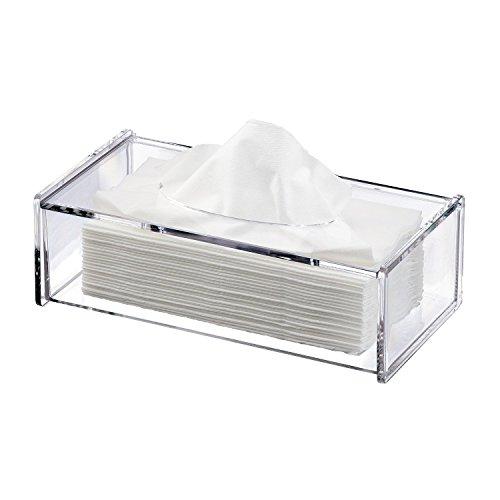 Discoball Cubierta de la caja de tejido de acrílico Soporte de tejido transparente Dispensador de tejido titular de la servilleta