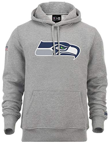 New Era - NFL Seattle Seahawks Team Logo Hoodie - Grey - M