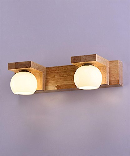 YANZHEN Solido legno dello specchio luci anteriori del LED Specchio contenitore luci del bagno servizi igienici specchio per il trucco luci scala navata laterale della lampada da parete del lato del letto ( dimensioni : 2 Headlights )