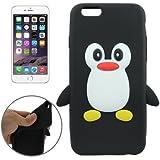 Coque silicone cartoon Pingouin noir pour iphone 6 et 6S