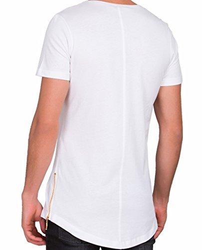 dcfffd13b6e6 ... Red Bridge Herren Golden Silver Boy Oversized Long T-Shirt Weiß (goldener  Reißverschluss) ...