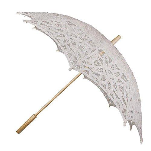 Hochzeit Regenschirme, Schnee Insel Spitze Holzgriff Paraso für die Dekoration Requisiten mit ()