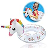SuperCat Flotador Inflable Unicornio para Piscina - Flotador para niños Anillo de natación con manija Segura Diversión en el Verano Juguetes de Playa para 2-8 años
