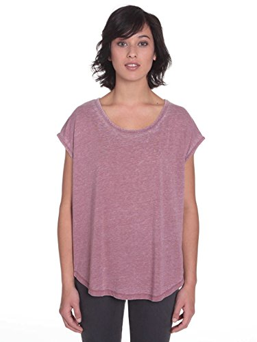 Damen T-Shirt Volcom Simply Solid Circle T-Shirt Crimson