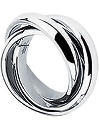 Taffstyle® Damen Verlobungsring Wickelring Designer Schmuck 3 in 1 Ring Edelstahl - Silber