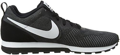 Nike MD Runner 2 ENG Mesh, Chaussures de Running Homme Noir (Blackwhitegunsmoke 004)
