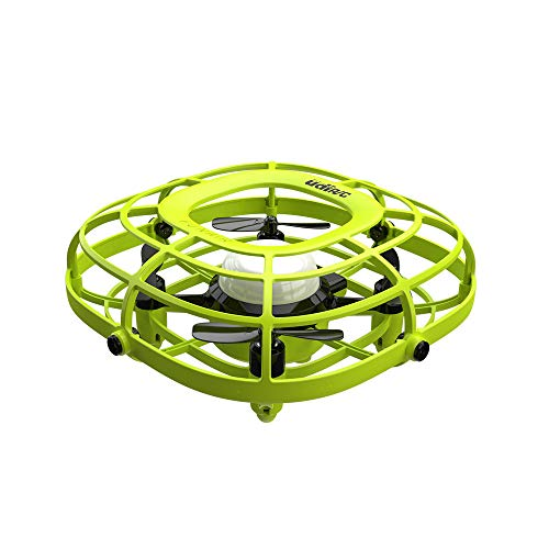 2 in 1 Mini Drone Quad Induction Levitation UFO Mini Handheld USB Fan Gift Toys, Levitation UFO Drone, Easy Controlled 2 Speed Mini Handheld USB Fan Toys for Boys and Girls (GRÜN)