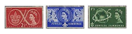 1957Welt Scout Jubilee Jamboree GB Briefmarken-Mint Zustand (Set von 3Briefmarken) - Powell Set