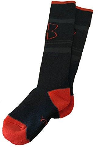 Under Armour Boy 's UA MTN Retro Streifen over-the-calf Ski Socken, Jungen, Dark Grey (005) / Orange Team/Black (Under Armour Jungen Streifen)