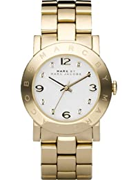 Marc Jacobs MBM3056 - Reloj con correa de metal, para mujer, color blanco / dorado